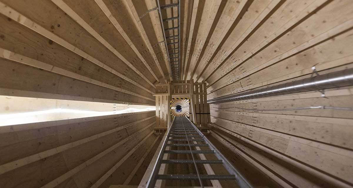 La primera turbina eólica de madera de Suecia