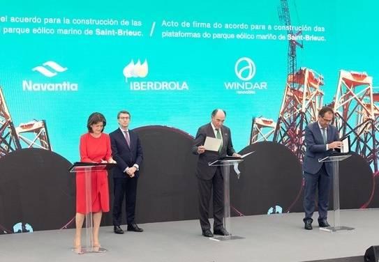 Iberdrola adjudica a Navantia-Windar el mayor contrato de eólica marina de su historia